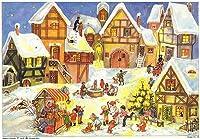 Village Christmas Market German Advent Calendar by PINNACLE PEAK