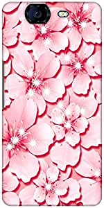 Snoogg Pink Flower Designer Protective Back Case Cover For Micromax Canvas Knight A350