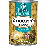 Eden Organic Garbanzo Beans, No Salt Added, 15-Ounce Cans (Pack of 12) ~ Eden
