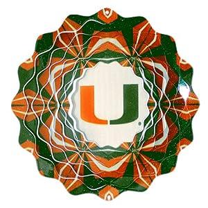 Iron Stop University of Miami Wind Spinner