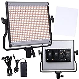 AW 480pcs LEDs Photography Lighting Panal 3200-5200K Dimmable Light Video Studio Camera Camcorder