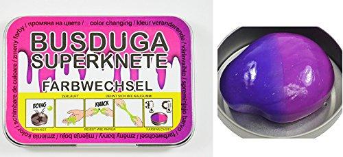 BUSDUGA 2208 - Intelligente Knete, FARBWECHSEL von LILA zu PINK- springt, zerläuft, reisst und dehnt sich - TOP-TREND