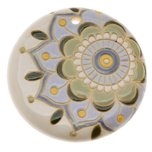 golem-design-studio-glazed-ceramic-disc-pendant-spanish-tile-flower-45mm-1