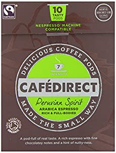 Cafédirect Fairtrade Peruvian Spirit Coffee Pods (6x10 Pack) (Nespresso® Machine-Compatible)
