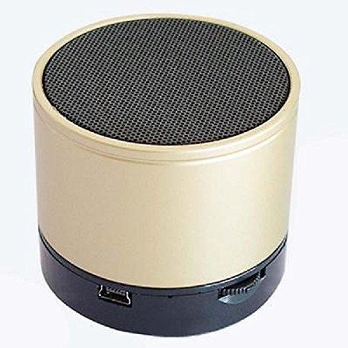 MVE(TM) Portable Bluetooth S10 Mini Wireless Speaker With MIC FM Memory Card Slot USB Slot (GOLD)