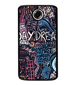 Fuson Premium 2D Back Case Cover Day Dream With Multi Background Degined For Motorola Google Nexus 6