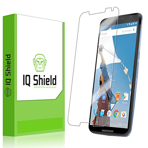 Iq Shield Liquidskin - Google Nexus 6 Screen Protector With Lifetime Replacement Warranty - High Definition (Hd) Ultra Clear Smart Film - Premium Protective Screen Guard - Extremely Smooth / Self-Healing / Bubble-Free Shield - Kit Comes In Frustration-Fre