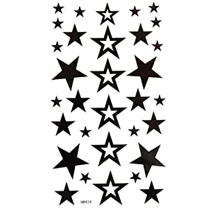 Tide Models Hollow Star Tattoo Stickers -Paste Neck Limited Fashion