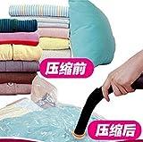 Amazon.co.jp真空圧縮袋  枕、服ソートバッグ  ダスト真空ポーチ 小、中サイズ  2個   吸引ポンプを取得