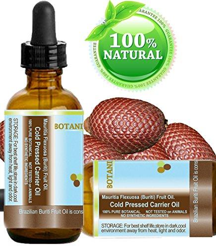 Brazilian BURITI FRUIT OIL 100% Pure / Natural / Cold Presse