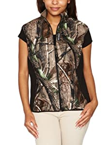 Rivers West Women's Lynx Waistcoat Midweight Fleece Fabric - Realtree AP, Small