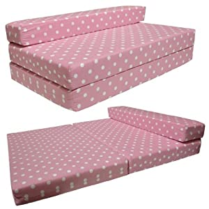 sofabed pink spots double sofa bed chair futon amazon