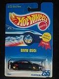 #255 BMW 850i Metal Flake Dark Blue Lace/Gold Wheels Collectible Collector Car Mattel Hot Wheels