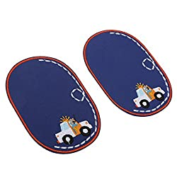 Phenovo Paire of Stylish Elbow Knee Patches Repair Sewing Applique Crafts White Car