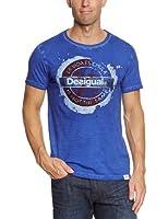 Desigual - forbidden - t-shirt - à logo - homme