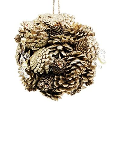 Sage & Co. Medium Pine Cone Jewel Ball Ornament