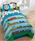 Thomas The Train Track Star Micro Comforter - Blue (twin)