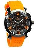 [サルバトーレマーラ] クロノグラフ 腕時計 メンズ 限定モデル イタリアブランド 立体インデックス アナログ表示 10気圧防水 sm14102-or 【雑誌掲載モデル】