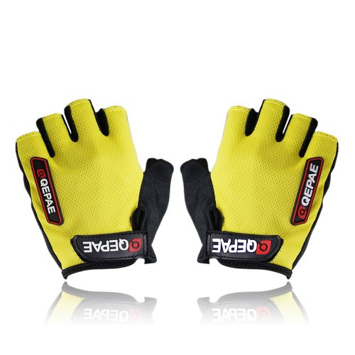 Oceantree(TM) New Cycling Bike Bicycle Gel Silicone half finger Ultra-breathable gloves (yellow, M)