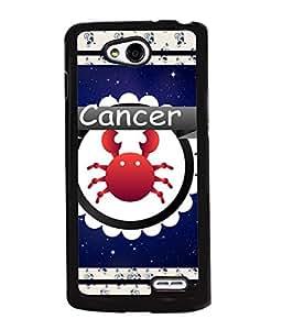 Printvisa 2D Printed Sunsign Cancer Designer back case cover for LG L90 - D4423