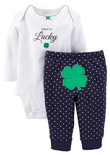 Carter's Baby Girls' 3 Piece St. Patrick's Layette Set (Baby) - Pretty Lucky - 6 Months