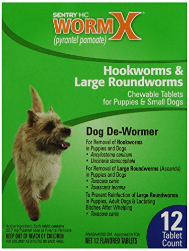Sentry Hc Wormx Dog Dewormer, Small Dogs, 12Ct