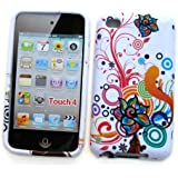 """Apple iPod Touch 4th Generation Crystal Silicone Skin Case """"Colorful Flowers"""" Design"""