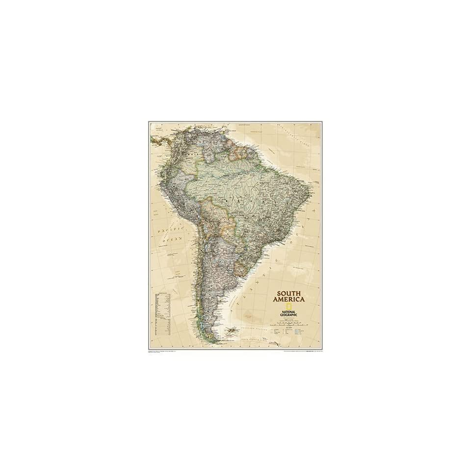 Geographic Map Of Earth.National Geographic South America Political Map Earth On Popscreen