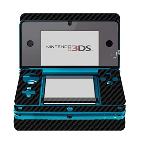 Skinomi TechSkin - Black Carbon Fiber Film Shield & Screen Protector for Nintendo 3DS + Lifetime Warranty