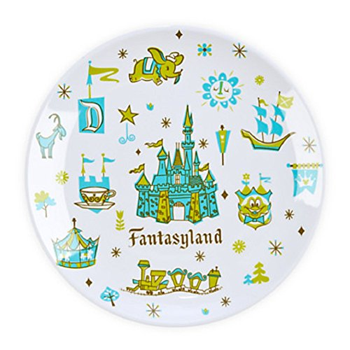 "Disney Magic Kingdom Park Set Of 4 7"" Plates"