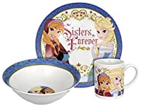 Disney Frozen Sisters Forever 3-Piece Dinnerware Set from RSquared