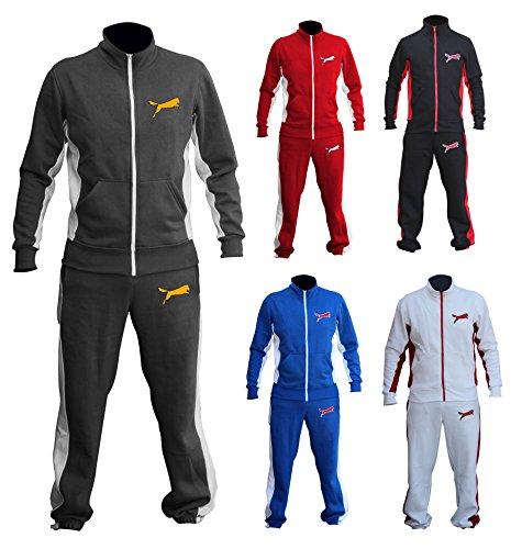 XXR Wolf Track Suit-Giacca tuta con pantaloni Top and Bottom Set da boxe MMA, per Fitness, Cross Fit, palestra la sudorazione per abbinamenti Casual Active Wear