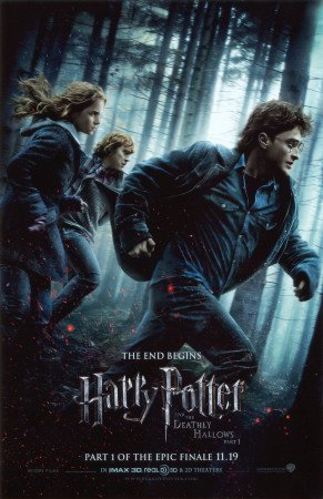 Harry Potter and the Deathly Hallows Original Movie Poster Daniel Radcliffe Emma Watson Rupert Grint Poster Print, 27x40