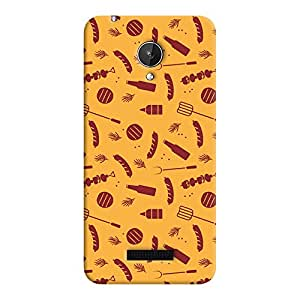 ColourCrust Micromax Canvas Spark Q380 Mobile Phone Back Cover With Party Time Pattern Style - Durable Matte Finish Hard Plastic Slim Case