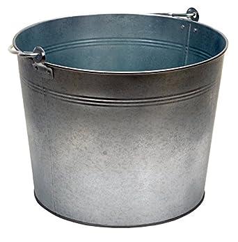 "Vestil BKT-GAL-500 Galvanized Steel Bucket, 10-3/4"" Depth, 5 gallon"