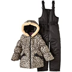 Pink Platinum Girls 2-6X Cheetah Snowsuit Set