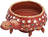 Vidhshee Creation Clay Decorative Bowl (20.32 cm x 12.7 cm, Brown)