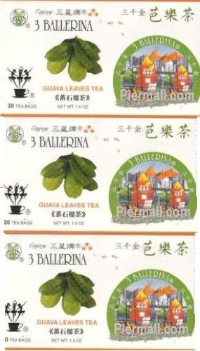 3 Ballerina Guava Leaves 20 Tea Bags Value Pack (3 Boxes)