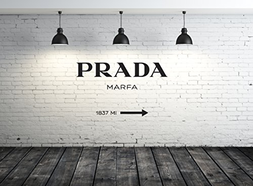 Wall Decal Vinyl Sticker Decals Art Decor Design Prada Marfa Fashion Girls Living Room Bedroom Modern Mural Fashion (R1210) front-745133