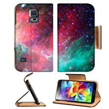 buy Nebulae Infrared Pink Teal Color Samsung Galaxy S5 Sm-G900 Flip Cover Case With Card Holder Customized Made To Order Support Ready Premium Deluxe Pu Leather 5 13/16 Inch (148Mm) X 2 1/8 Inch (80Mm) X 5/8 Inch (16Mm) Msd S V S 5 Professional Cases Accessor