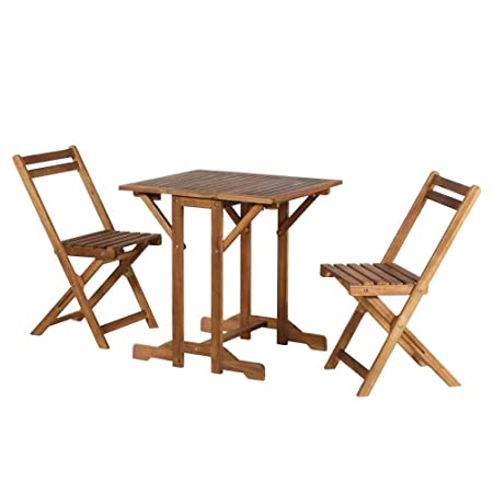 Siena mybalconia 358289 - Muebles de jardín / set molada, 3 pieza fsc acacia, el 100 por ciento, marrón