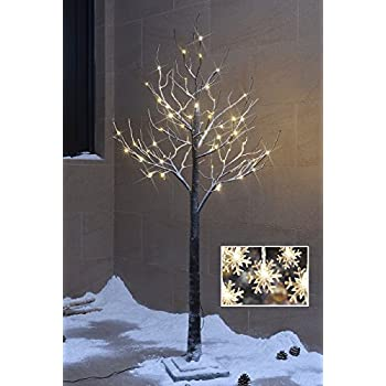 Lighted Snow Tree