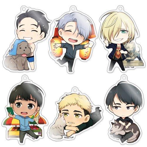 きゃらふぉるむ ユーリ!!!on ICE アクリルストラップコレクション Vol.2 BOX商品 1BOX = 6個入り、全6種類
