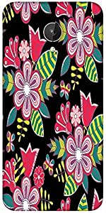 Snoogg Abstract Floral Background Designer Protective Back Case Cover For Micromax Canvas Spark Q380