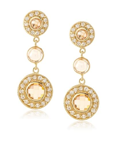 Belargo Round Bezel Drop Earrings As You See