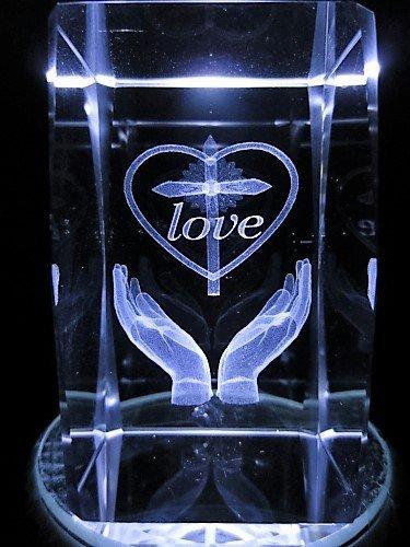 laser kristall glasblock love liebe 8 x 4 5 cm 3d bild glas figur deko gdet b77. Black Bedroom Furniture Sets. Home Design Ideas