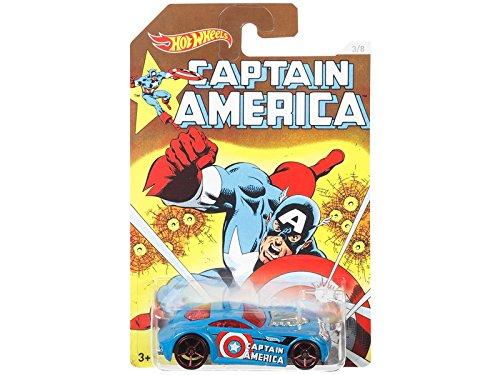 Hot Wheels, Captain America 75 Years Exclusive Bundle Set Of 8 Die-Cast Cars