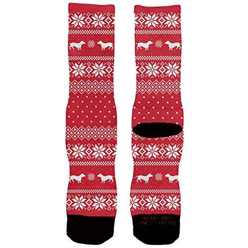 Dachshund Ugly Christmas Socks