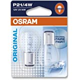 OSRAM Original 12V P21/4W halogen auxiliary lights 7225-02B in double blister