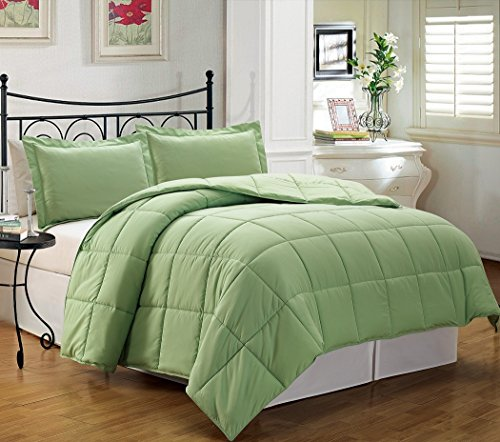 2-Piece Down Alternative Comforter Set Twin, Hemlock Green